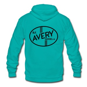 B.F. Avery Model A emblem - Unisex Fleece Zip Hoodie by American Apparel