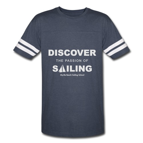 Discover Sailing MBSS Mens Short Sleeve T-Shirt - Front Only - Vintage Sport T-Shirt