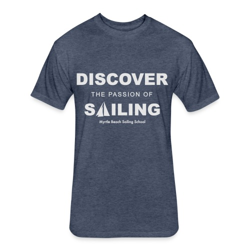 Discover Sailing MBSS Mens Short Sleeve T-Shirt - Front Only - Fitted Cotton/Poly T-Shirt by Next Level