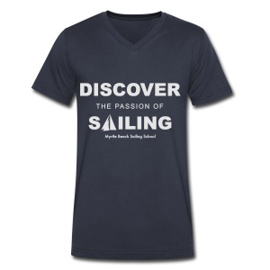Discover Sailing MBSS Mens Short Sleeve T-Shirt - Front Only - Men's V-Neck T-Shirt by Canvas