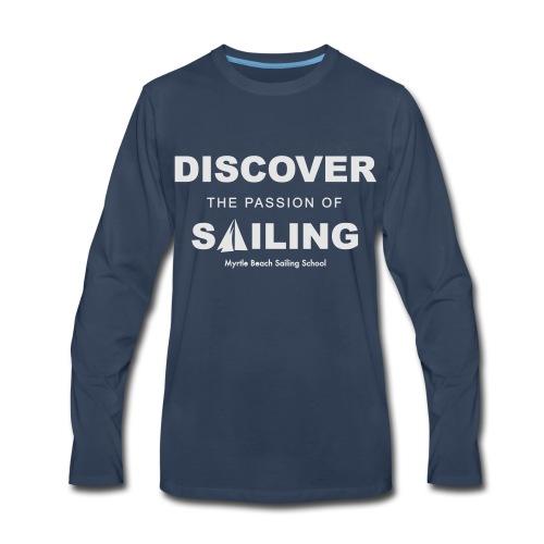 Discover Sailing MBSS Mens Short Sleeve T-Shirt - Front Only - Men's Premium Long Sleeve T-Shirt