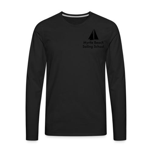 Discover Sailing MBSS Mens Short Sleeve T-Shirt - Front & Back - Men's Premium Long Sleeve T-Shirt