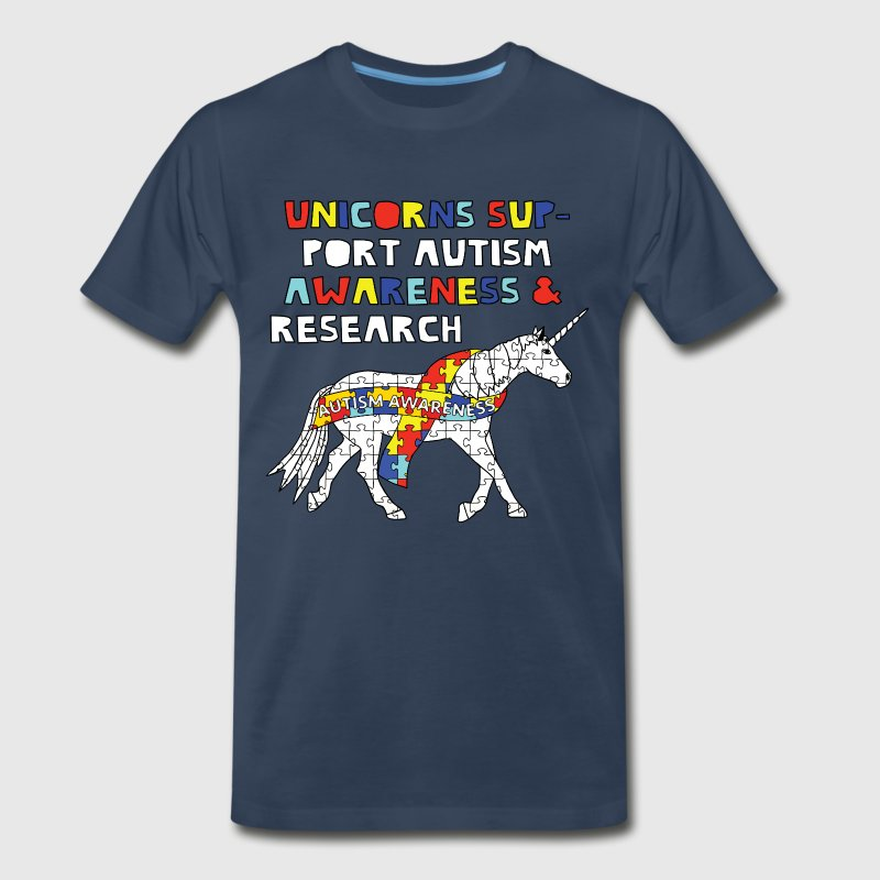 autism awareness unicorn T-Shirts - Men's Premium T-Shirt