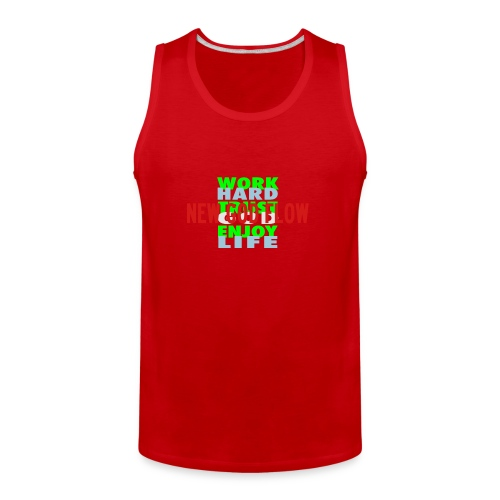 Men's Premium Tank - HAT RED ON RED