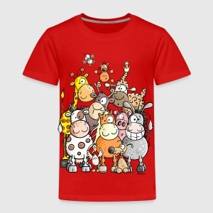 Giant Pile Of Animal Kids' Shirts - Toddler Premium T-Shirt