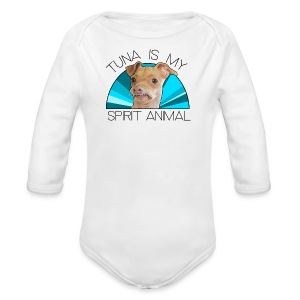 Tina Is My Spirit Animal - Long Sleeve Baby Bodysuit