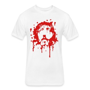 Jesus in Blood - Fitted Cotton/Poly T-Shirt by Next Level