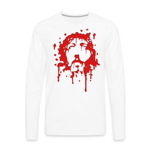 Jesus in Blood - Men's Premium Long Sleeve T-Shirt