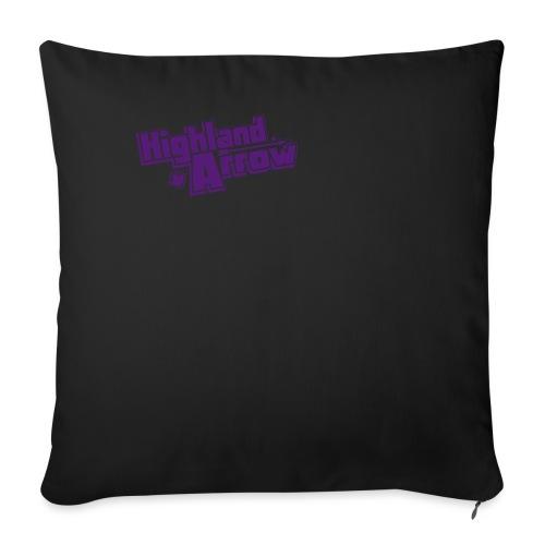 """Men's HA Logo Zip Hoodie - Throw Pillow Cover 18"""" x 18"""""""