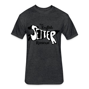 Men's single-sided Black/white setter design on front - Fitted Cotton/Poly T-Shirt by Next Level