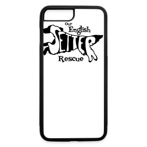 Men's single-sided Black/white setter design on front - iPhone 7 Plus/8 Plus Rubber Case