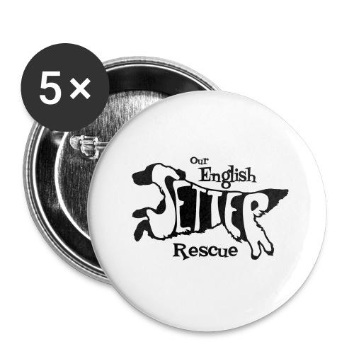 Men's single-sided Black/white setter design on front - Large Buttons