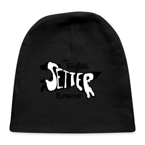 Men's single-sided Black/white setter design on front - Baby Cap