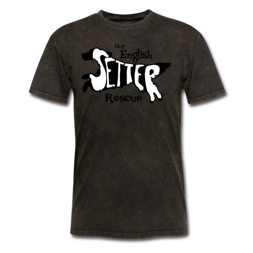 Men's single-sided Black/white setter design on front - Men's T-Shirt