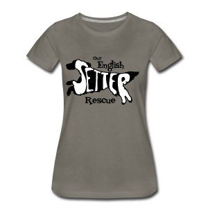 Men's single-sided Black/white setter design on front - Women's Premium T-Shirt