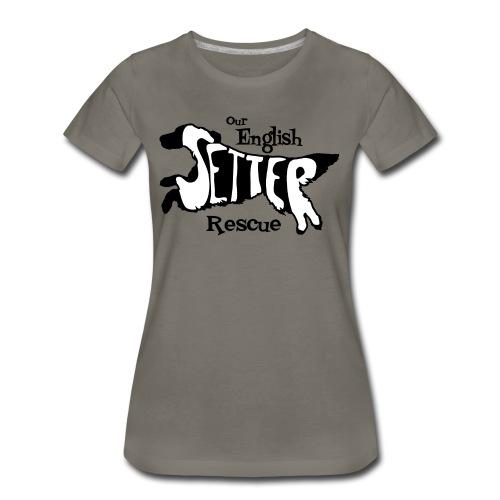 Men's single-sided Black/white setter design on front - Women's Premium T-Shirt