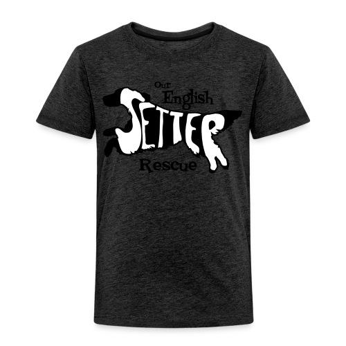 Men's single-sided Black/white setter design on front - Toddler Premium T-Shirt