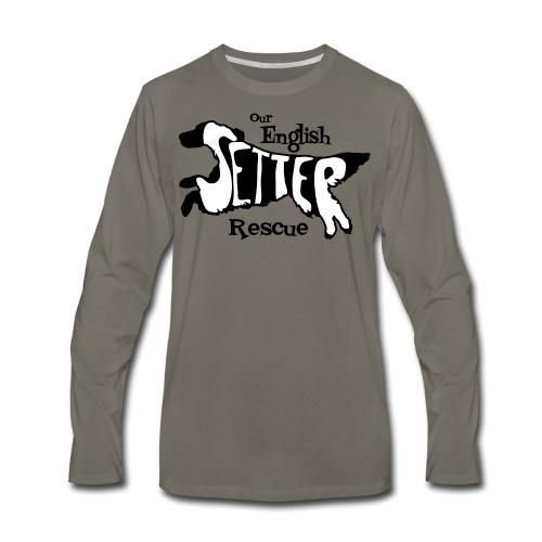 Men's single-sided Black/white setter design on front - Men's Premium Long Sleeve T-Shirt
