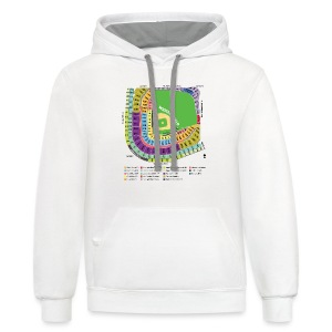 Wrigley Field Seating Chart - Contrast Hoodie