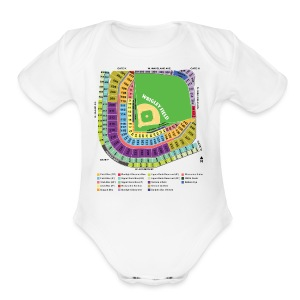 Wrigley Field Seating Chart - Short Sleeve Baby Bodysuit
