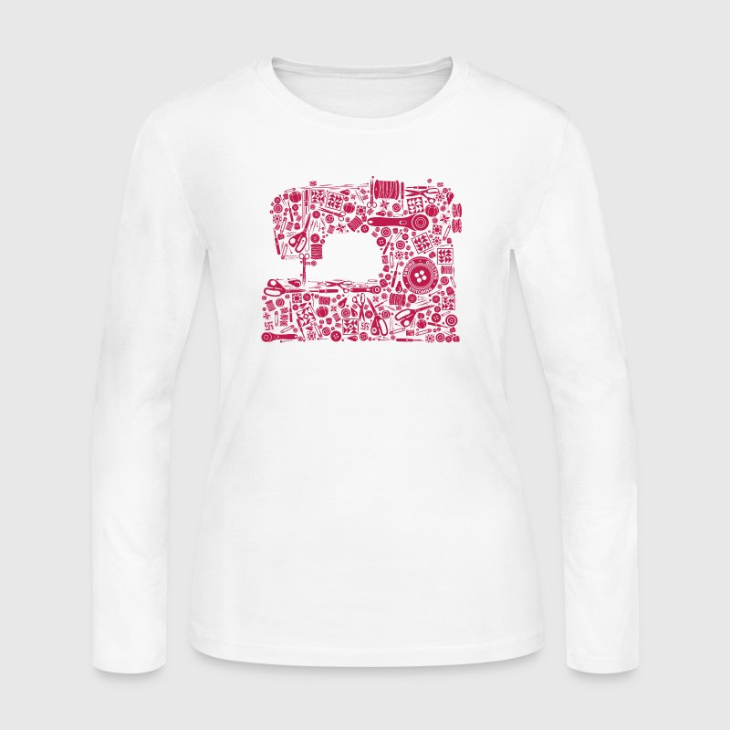 Sewing Quilting Crafting - Women's Long Sleeve Jersey T-Shirt