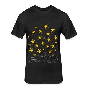 Coffins And Stars - Fitted Cotton/Poly T-Shirt by Next Level