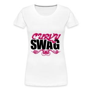 Curvy Swag Tank Top - Women's Premium T-Shirt