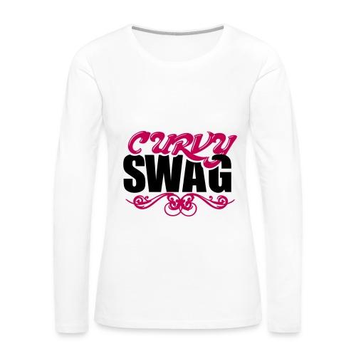 Curvy Swag Tank Top - Women's Premium Long Sleeve T-Shirt