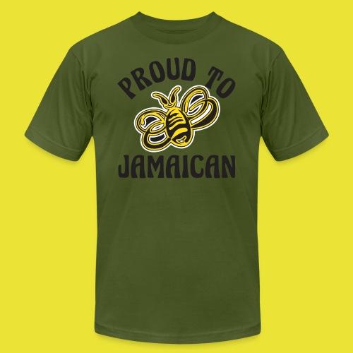 Proud To Bee Jamaican (men) - Men's Fine Jersey T-Shirt