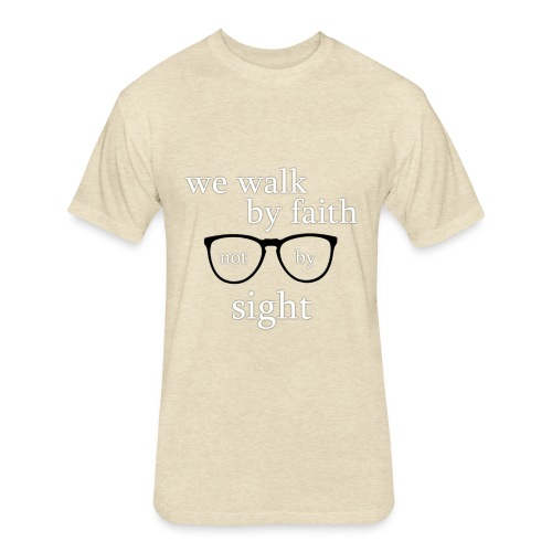 Walk By Faith Tee - Fitted Cotton/Poly T-Shirt by Next Level