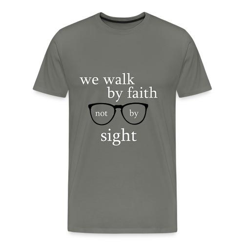 Walk By Faith Tee - Men's Premium T-Shirt