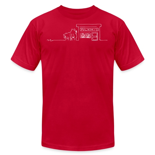 Grizzly Bears Near Pulaski's Candy Store T-Shirt - Men's Fine Jersey T-Shirt