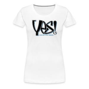 Yes Women's Slim T - lt - Women's Premium T-Shirt