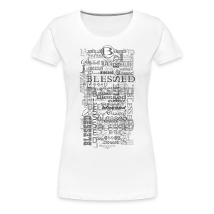 Blessed All-Over Women's T - lt - Women's Premium T-Shirt