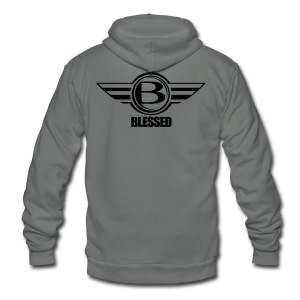 Blessed-Airborn - Unisex Fleece Zip Hoodie by American Apparel