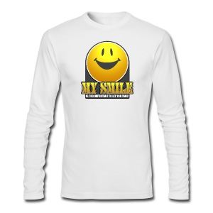 Smile T-Shirt - Men's Long Sleeve T-Shirt by Next Level