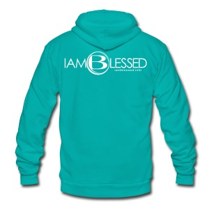 IAmBlessed-Mens-st - Unisex Fleece Zip Hoodie by American Apparel