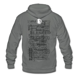 Blessed All-Over Men's T - tan - Unisex Fleece Zip Hoodie by American Apparel