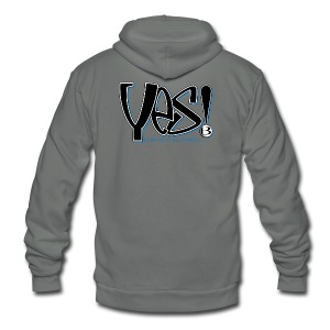 YES T-Shirts - Unisex Fleece Zip Hoodie by American Apparel