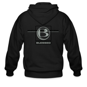 MN-Blessed 2 Squared - Black - Men's Zip Hoodie