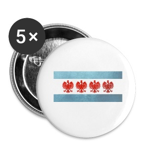 Polish Chicago Flag - Small Buttons