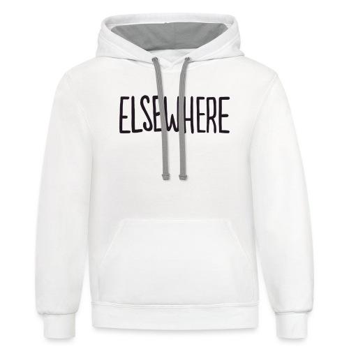 elsewhere logo - Black - Contrast Hoodie