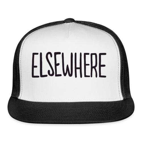 elsewhere logo - Black - Trucker Cap