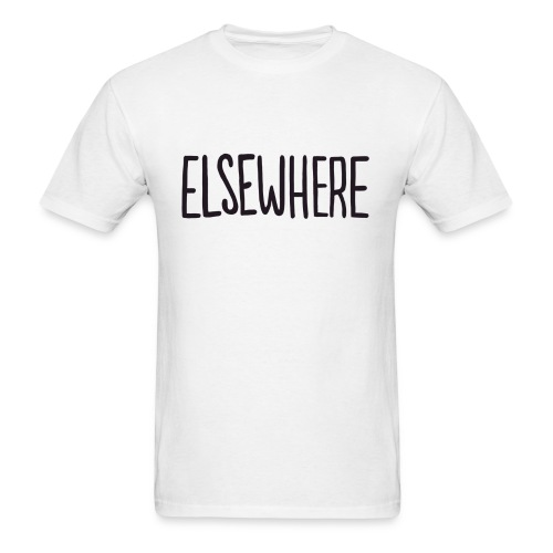 elsewhere logo - Black - Men's T-Shirt