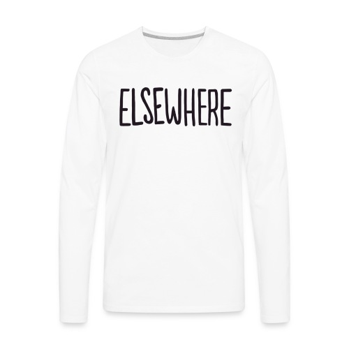elsewhere logo - Black - Men's Premium Long Sleeve T-Shirt