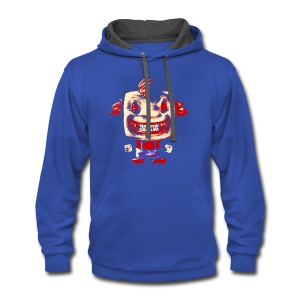 Funny Buddy Faded - Contrast Hoodie