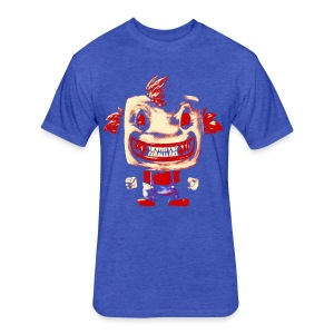 Funny Buddy Faded - Fitted Cotton/Poly T-Shirt by Next Level