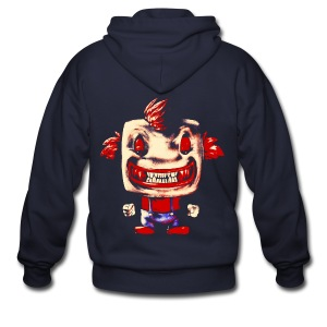 Funny Buddy Faded - Men's Zip Hoodie
