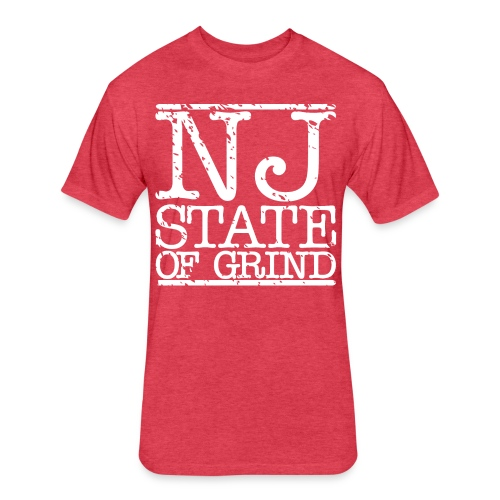 NJ STATE OF MIND - Fitted Cotton/Poly T-Shirt by Next Level