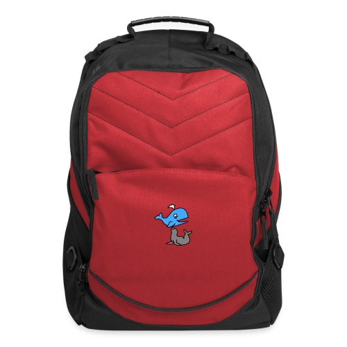 whale and seal mug red  - Computer Backpack